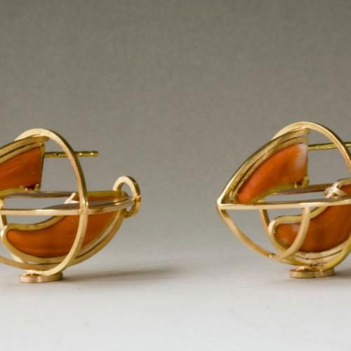 "Anna Heindl - earrings ""carrots"""