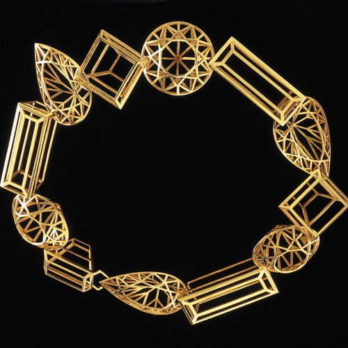 "Melanie Kölsch - necklace ""Crystal Systems"""