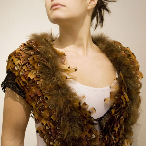 Maria Baumschlager-Dünser - feather creation for the body