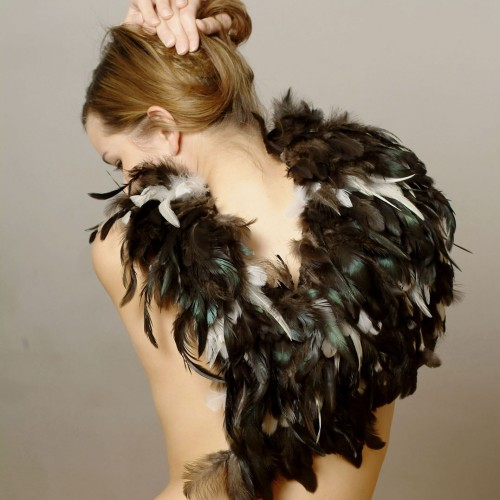 Maria Baumschlager-Dünser - feather cape