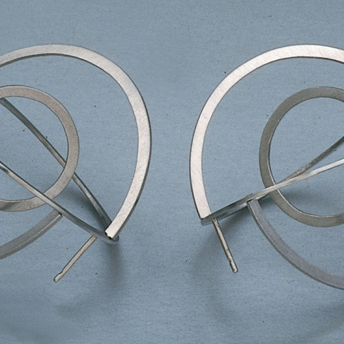 "Jiri Sibor - earrings ""Twisted circles"""