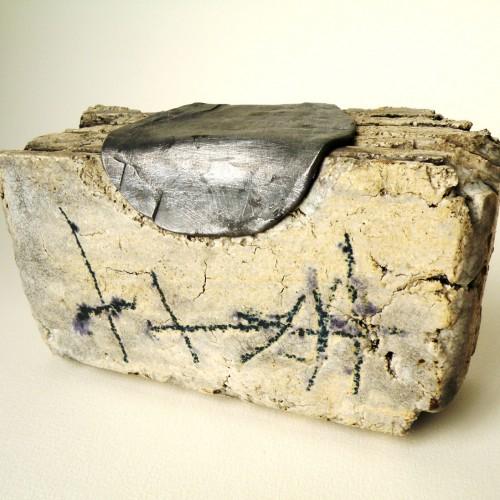 """Madola - ceramic sculpture """"book"""""""