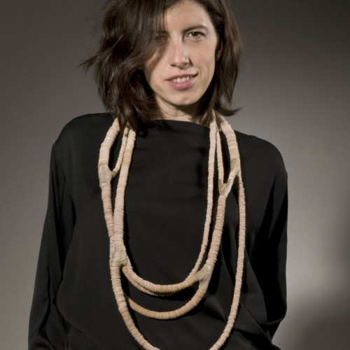 Silke Spitzer - Necklace of wood knots