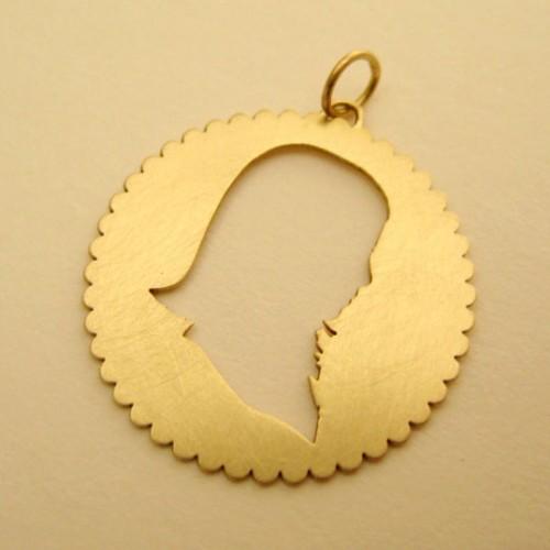 "Ana Couto - pendant ""portait silhouette"""