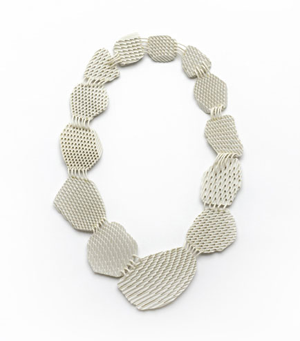 Silke Trekel - necklace faces and rhombus