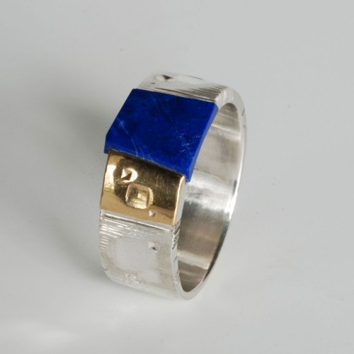 "Martin Spreng - ring for men ""cosmic impressions"""