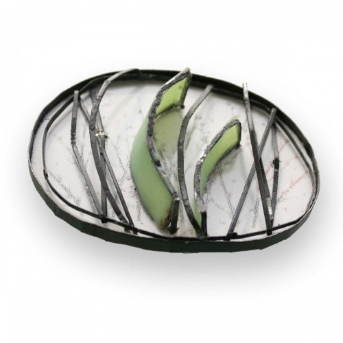 Silvia Walz - reflections - light - geometry light green