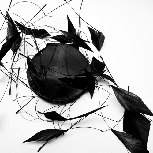 Birgit Sophie Metzger - plumed headdress black
