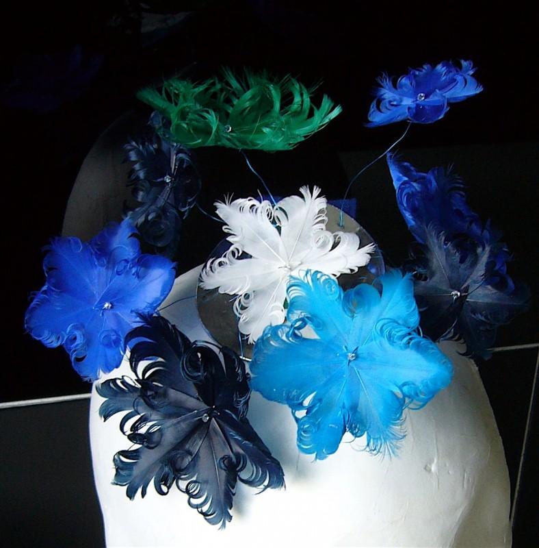 Birgit Sophie Metzger - plumed headdress flowers