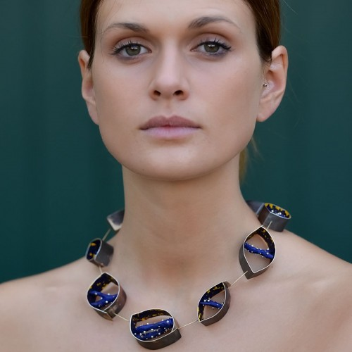 Maria Rosa Franzin - necklace with model