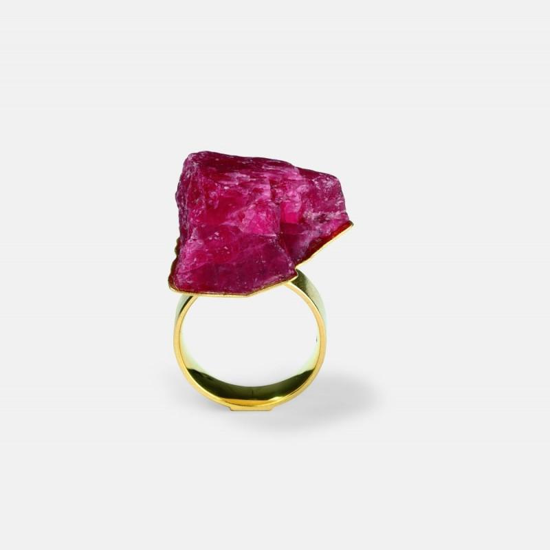 Michael Becker - ring sculpture rhodonite