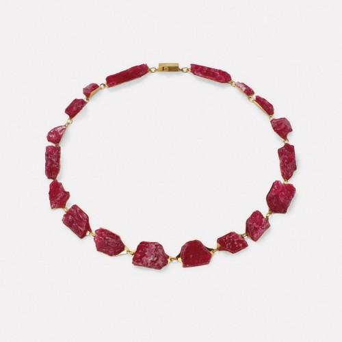 Michael Becker - necklace rhodonite
