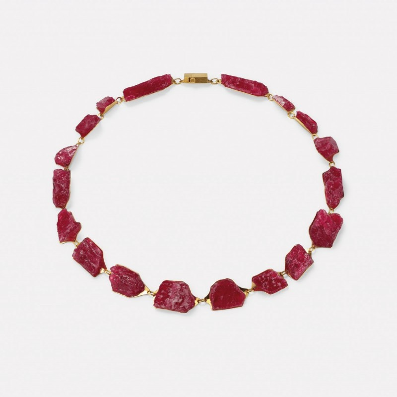 Michael Becker - necklace rhodonite