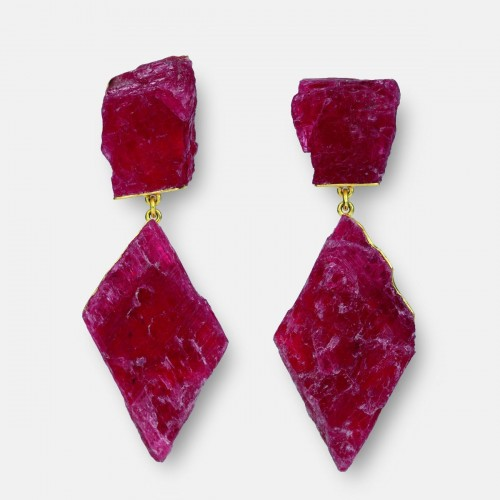 Michael Becker - earrings rhodonite