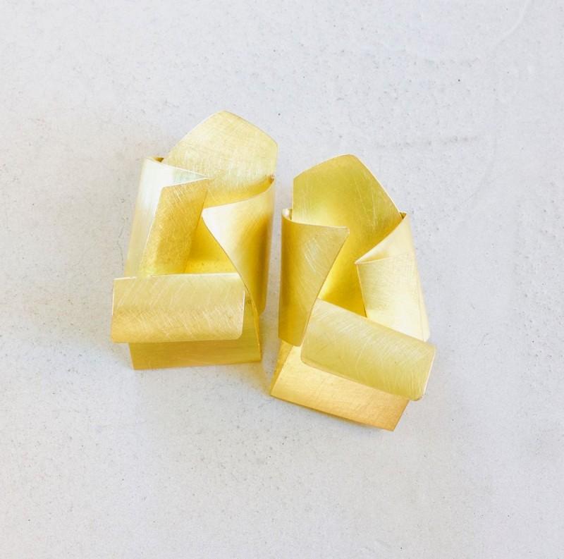 Letizia Plankensteiner - earrings - recycled gold