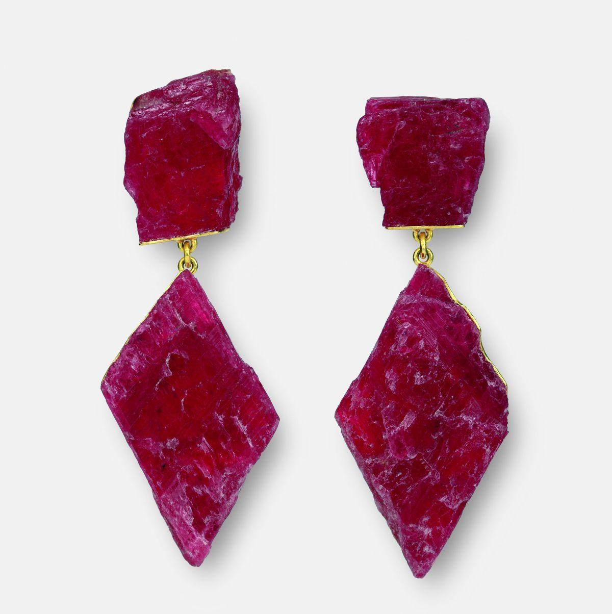 Earrings Rhodonite